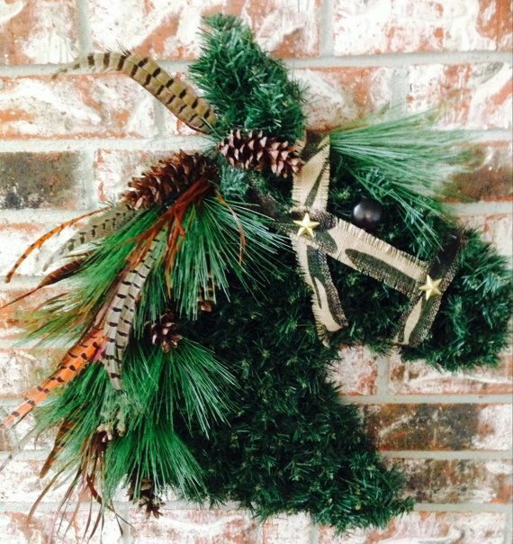 Horse head wreath horsehead wreath orse head wreaths camouflage