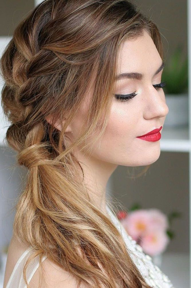 simply hair styles best 25 side braid wedding ideas on side 8333