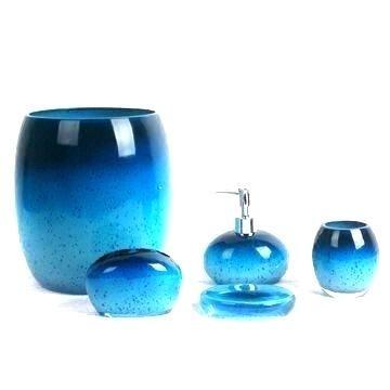 Blue Glass Bathroom Accessories Blue Bathroom Sets Com Blue Mercury