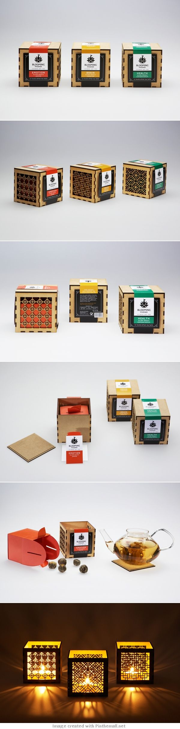 BLOOMING PHOENIX #packaging concept for a flowering #tea brand PD created via https://www.behance.net/gallery/Blooming-Phoenix/7427535
