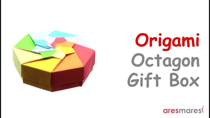 Origami Octagon Gift Box (easy - modular) Easy to make and eye catching origami gift box!!!