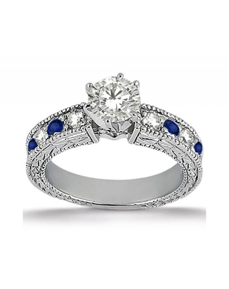 Top engagement rings with colored gemstones - blue