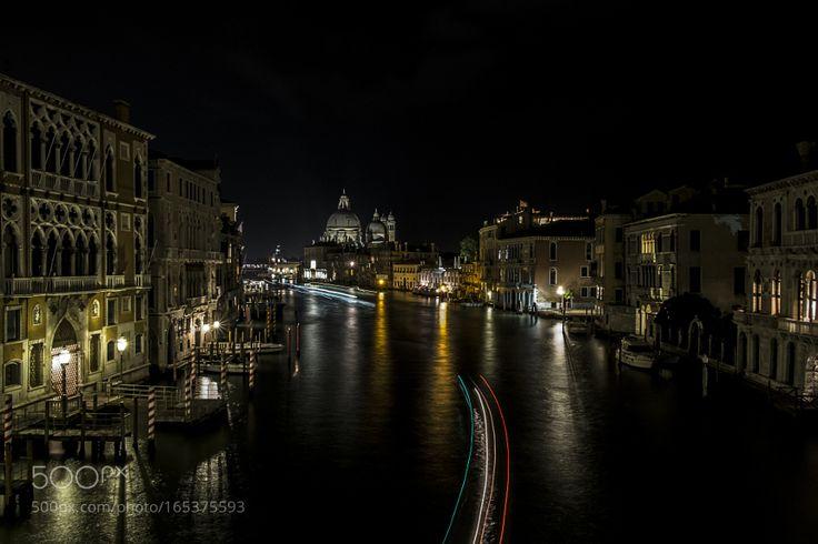 Lunga esposizione dal Ponte dell'Academia Venezia 2016 by DamianoRicca. @go4fotos