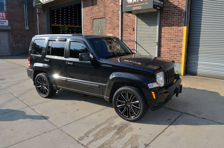 "4 GWG Wheels 18"" Black Laser Flow Rims Fits 5x114 3 Jeep Liberty 2002 2015 | eBay"