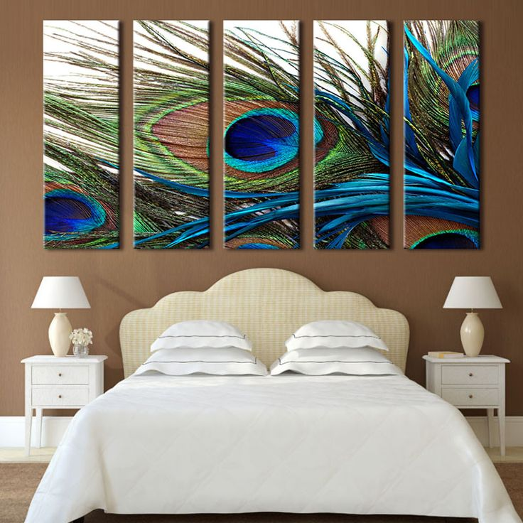 Free Shipping! This beautiful peacock feather print from BigWallPrints.com is an affordable way to make an impact in any room! Our panel art is printed on high quality canvas, and will stand the test