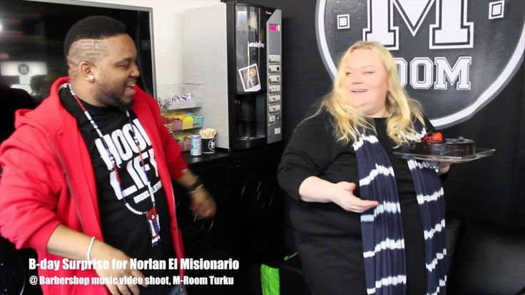 B-day Surprise for Norlan El Misionario @ Barbershop music video shoot, ...