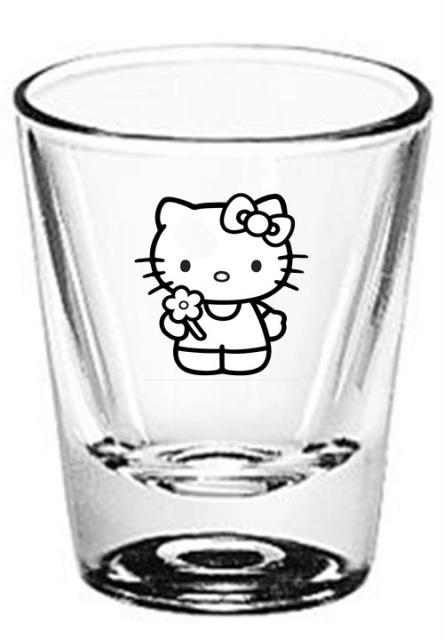 Hello Kitty Images - Flower shot glass