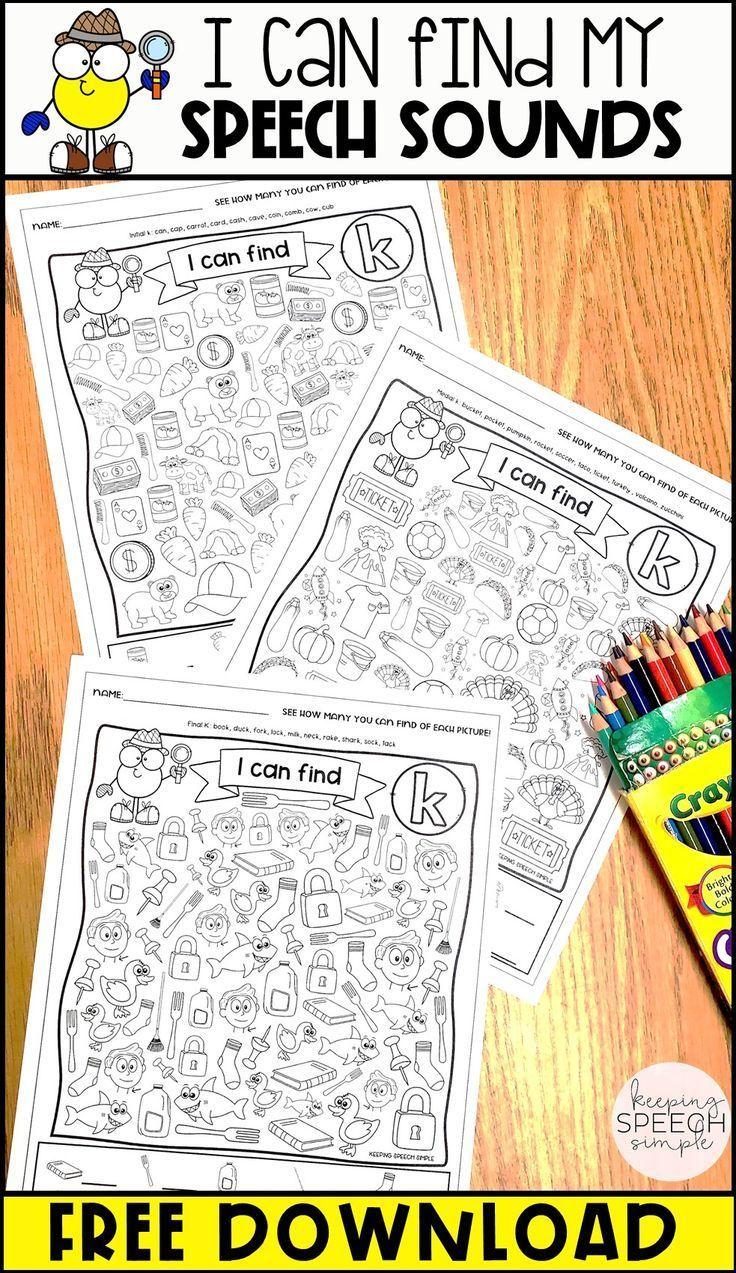 I Spy Speech Sounds No Prep Articulation Worksheets Free Sample Articulation Free Articulation Worksheets Speech Therapy Materials Speech Therapy Free [ 1273 x 736 Pixel ]