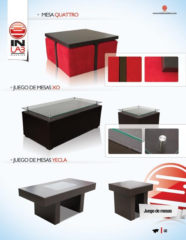 Mesas de centro, mesas laterales, mesas centrales, mesas para sala, juego de mesas para sala, juegos de mesas de centro para sala inlab muebles