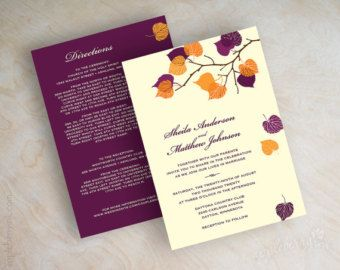Fall Wedding Invitations and Inspiration | 21st - Bridal World - Wedding Ideas and Trends