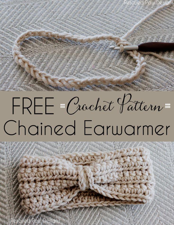 Crochet Chained Ear Warmer Pattern
