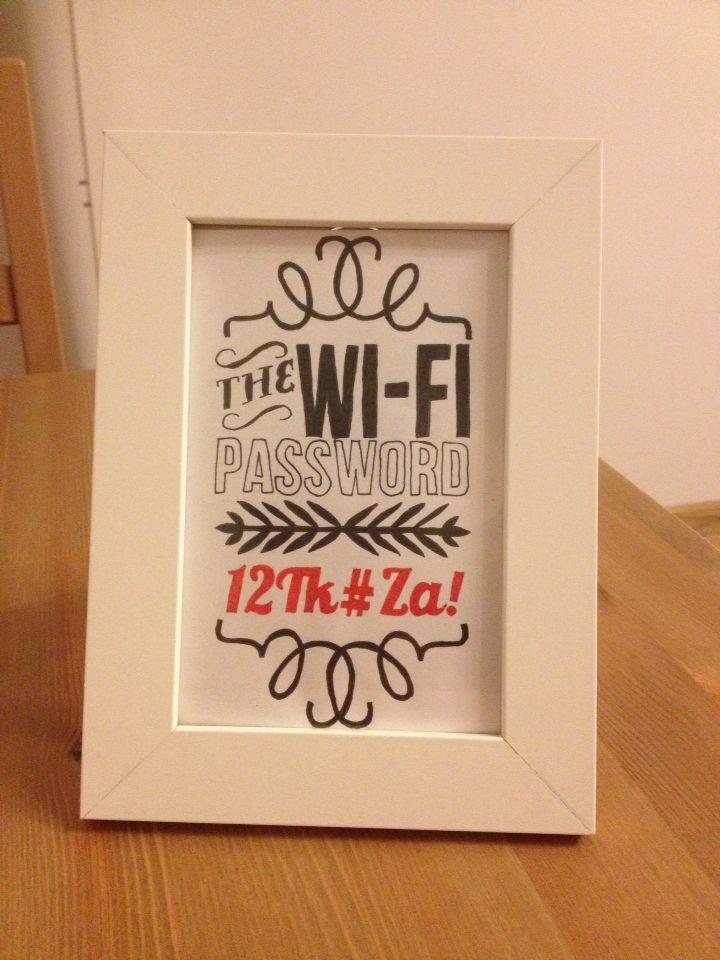 Wi-Fi Password - made by neerdorka