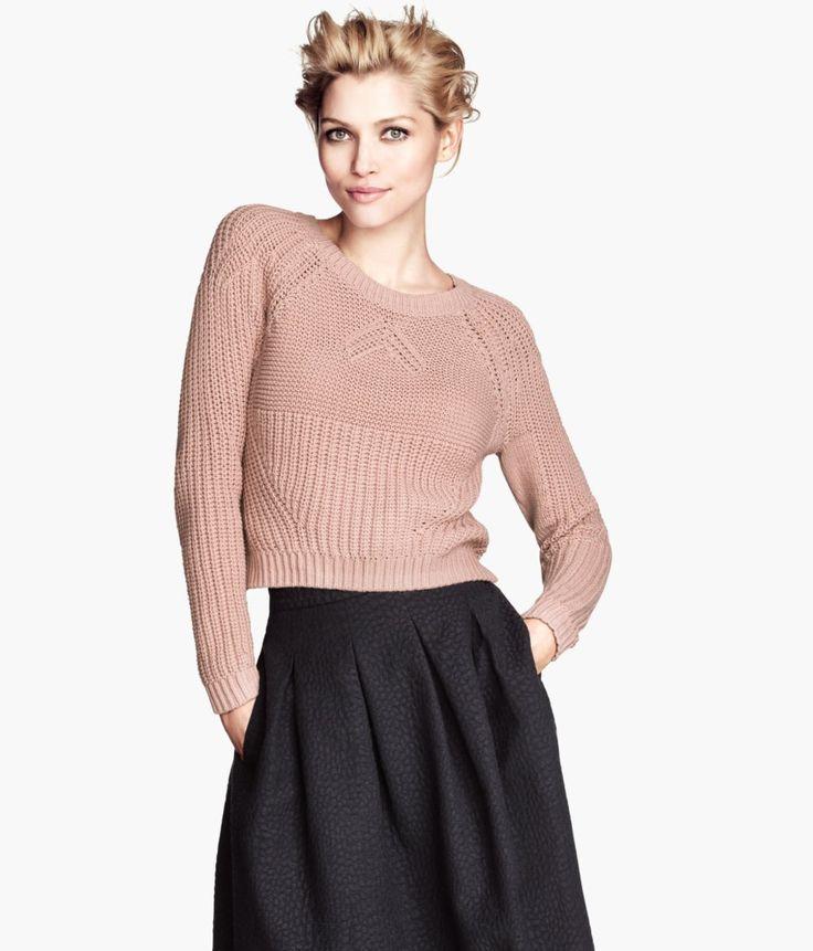 Der ist ja schön… Und - schwupps - hat man den Pullover schon in der Hand, faltet ihn zum Begutachten auseinander und stellt dann überraschend fest: Der ist ja total kurz! Und jetzt...