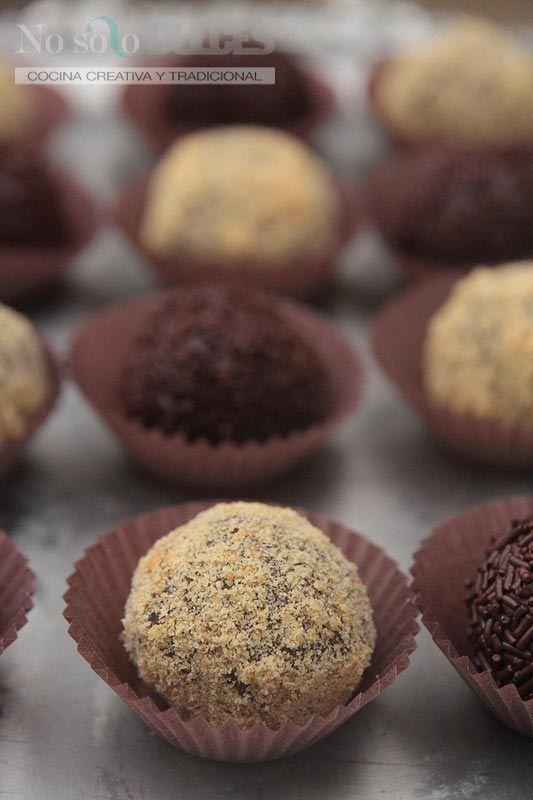 Trufas de chocolate hechas con leche condensada:
