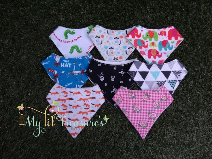Li'l Bandana Bib made with love by My Li'l Treasure's.  Bibs have a cotton or poly cotton top layer with Bamboo Terry Towelling (70% Bamboo 28% Organic Cotton 2% Poly) backing for super absorbency.   $8.00 each or 3 for $20.00  Various fabrics available. If enough notice given I can order the fabric of your choice.  Please contact My Li'l Treasure's for custom orders.   *Some slight colour variations may be noticed from computer/device screens to that of the actual item*