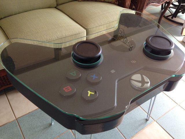 DIY Xbox One Game Controller Coffee Table. Custom cut glass would be the most expensive part