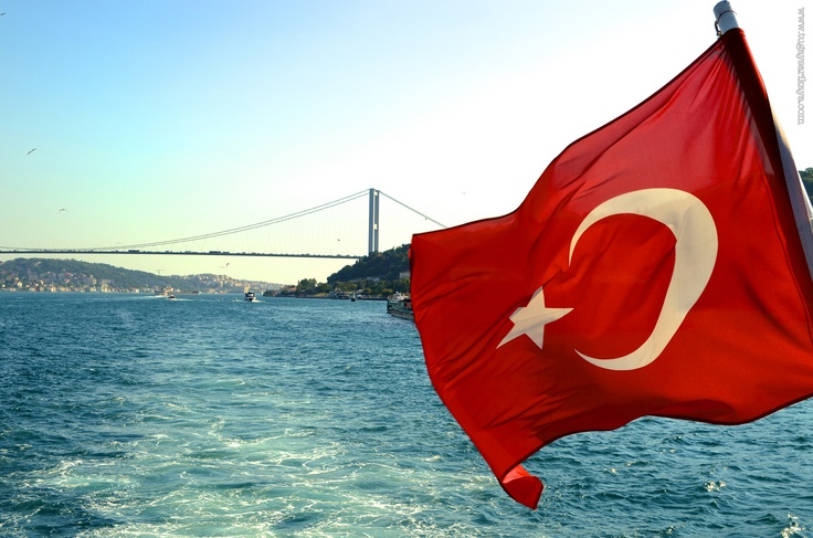 turkish Flag & bosphours