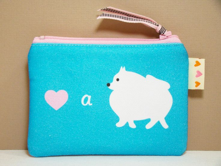Pomeranian Dog Coin Purse Pouch - Love a Pomeranian - Cute Dog Purse Teal Pink Womens Accessory by persnicketypelican on Etsy https://www.etsy.com/listing/83812476/pomeranian-dog-coin-purse-pouch-love-a