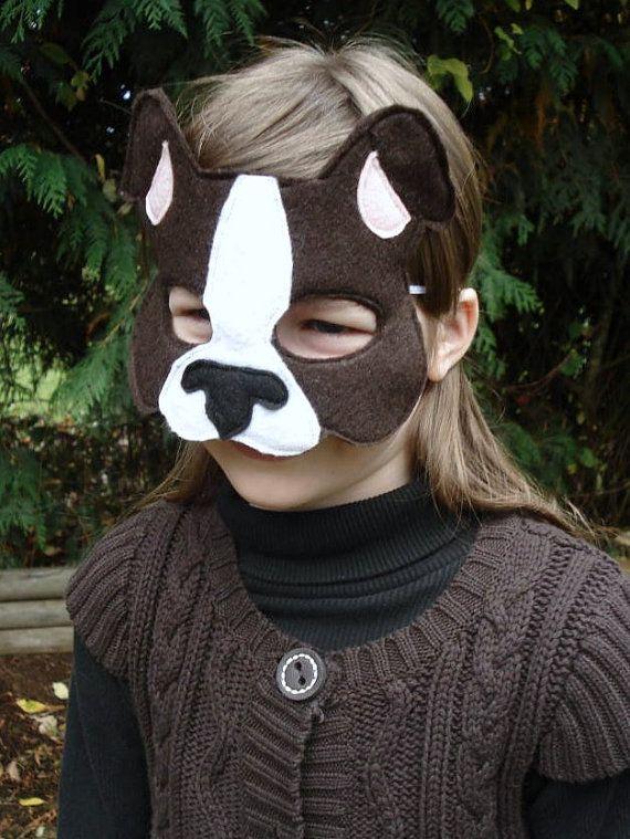 Felt Dog Mask by herflyinghorses on Etsy, $14.50