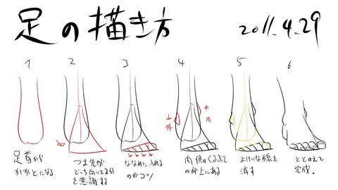 「足の描き方」/「松(A・TYPEcorp.)」のイラスト [pixiv]