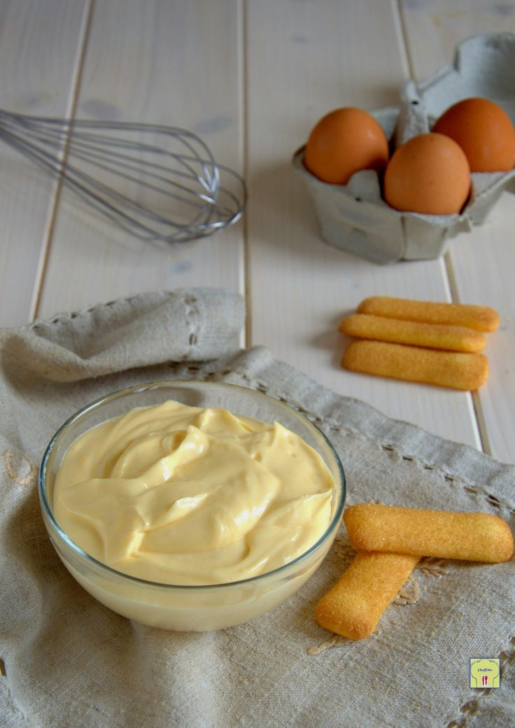 crema al mascarpone con uova cotte