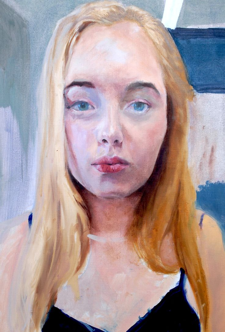 Elisha's self portrait in oil paint formed part of her A2 exam preparation.  Beautiful, subtle colour mixing. Elisha is going on to study on an Art Foundation course with her focus on Fashion as a long term career. Exhibited at 'Rising Stars exhibition, London and selected by RBA for the annual show at the Mall gallery, London.