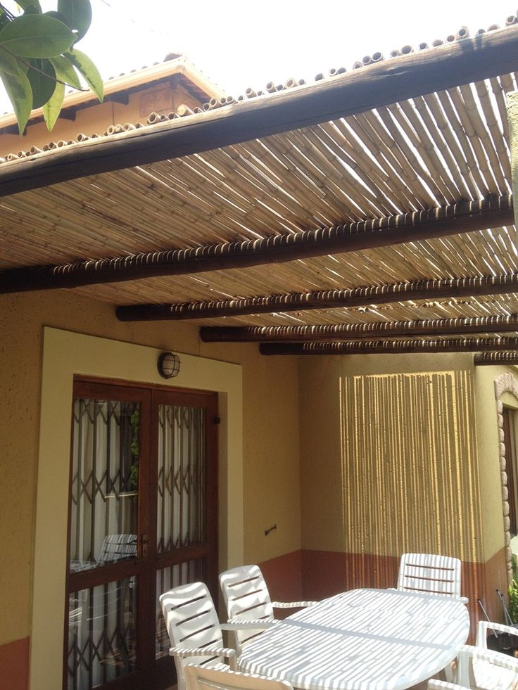 Natural bamboo rolls, used to create a beautiful outdoor pergola !!