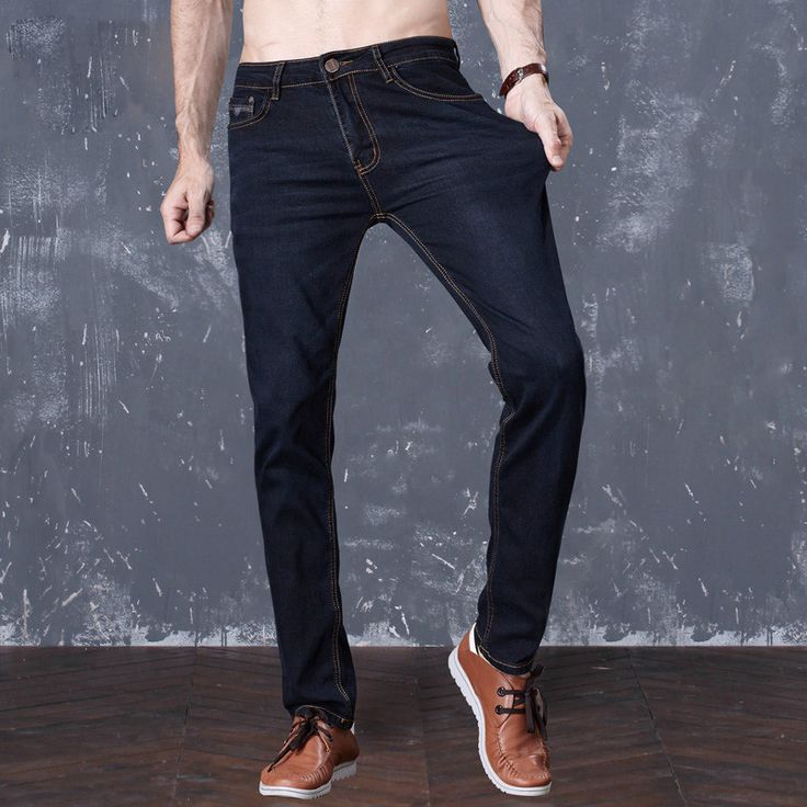 Drizzte Brand Summer Lightweight Mens Stretch Blue Denim Jeans Slim Fit Ripped Trouser Mens Jeans Plus Size Pants