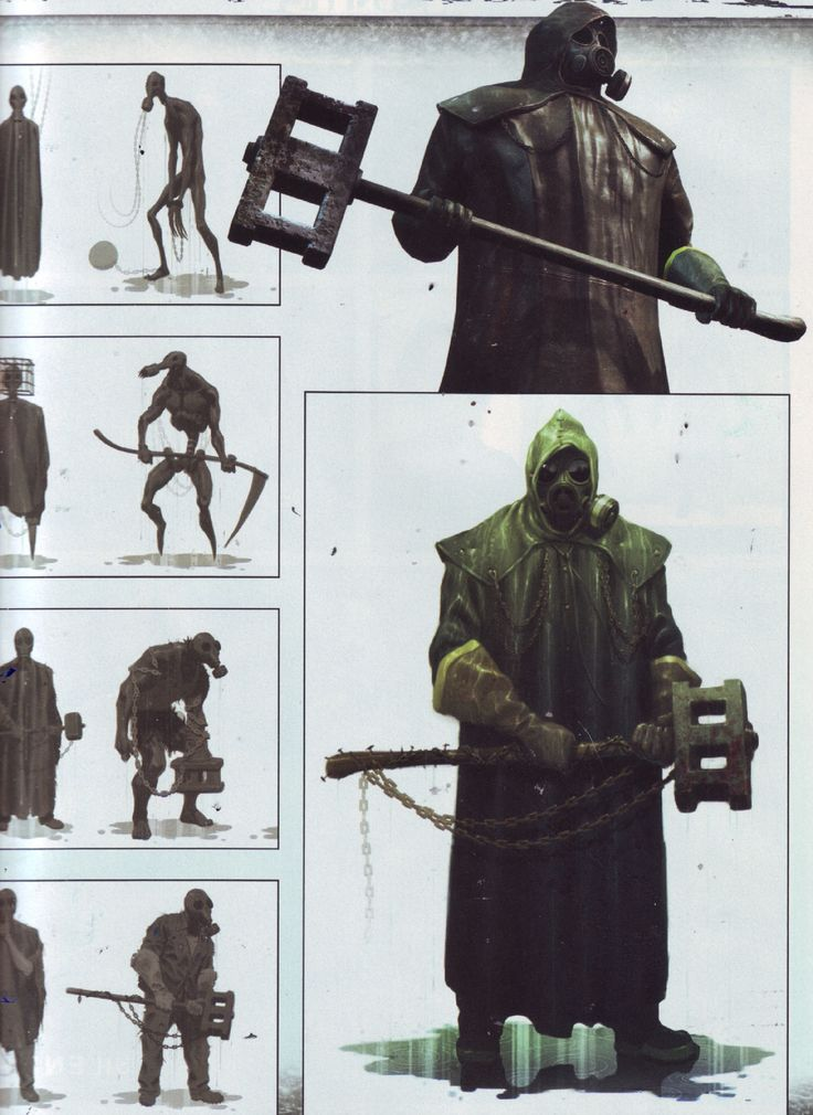 """Concept Arts for the Boogeyman, one of the """"characters"""" of Silent Hill: Downpour"""