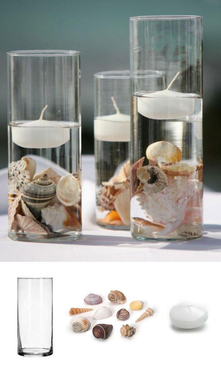 Beautiful yet simple centerpiece for a modern beach wedding #afloral – Melanie Morrison