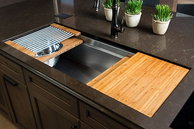 the galley ideal workstation 4 large stainless steel kitchen sink replacing kitchen on kitchen sink id=31498