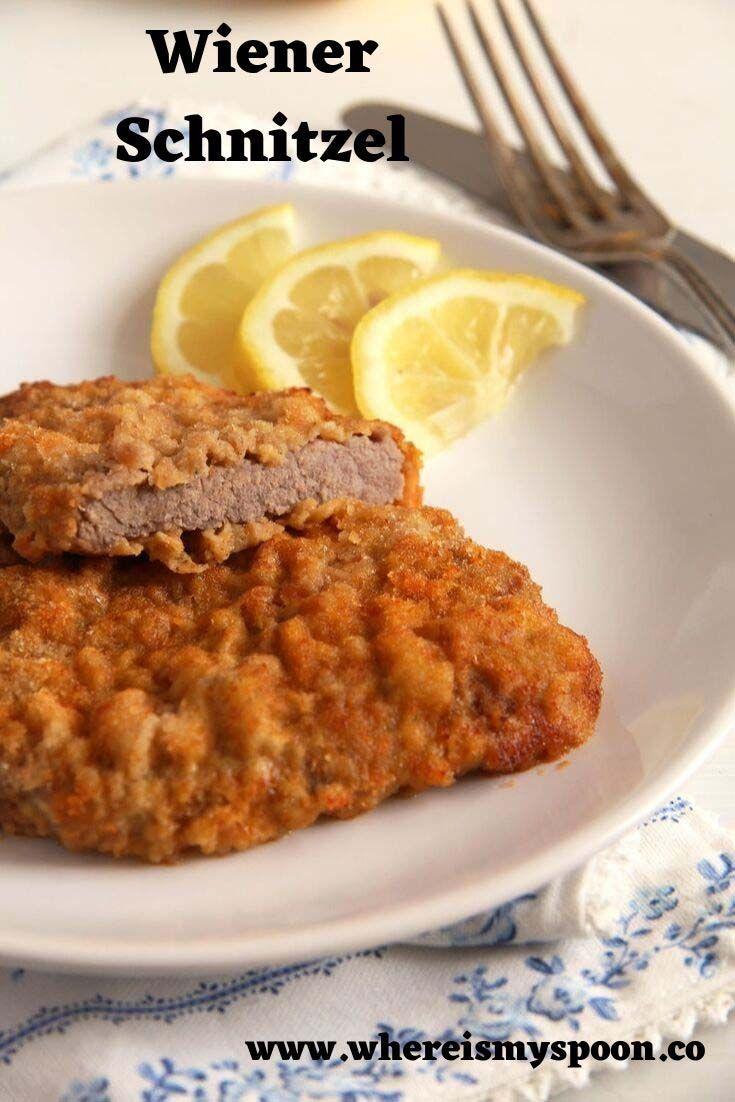Wiener Schnitzel Austrian Veal Schnitzel Recipe Wiener Schnitzel Veal Schnitzel Veal Recipes
