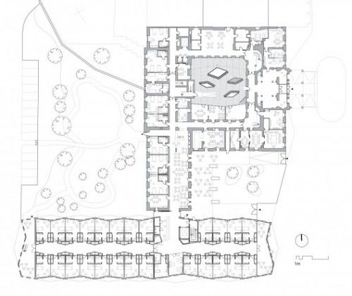 Home Design Ideas For The Elderly: Nursing Home Ground Floor Plan