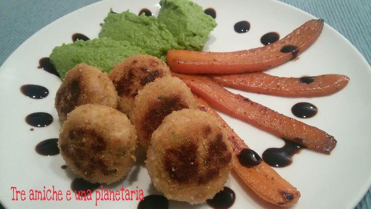 Polpettine morbide di tacchino in padella con verdure