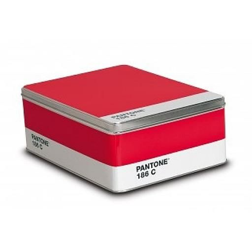 Pantone 186C Metal Box, Ruby Red