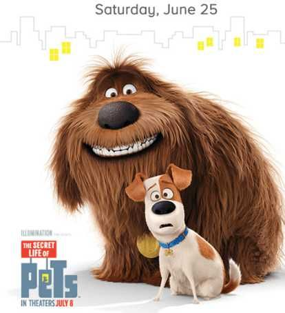 The secret life of Pets movie release with PetSmart