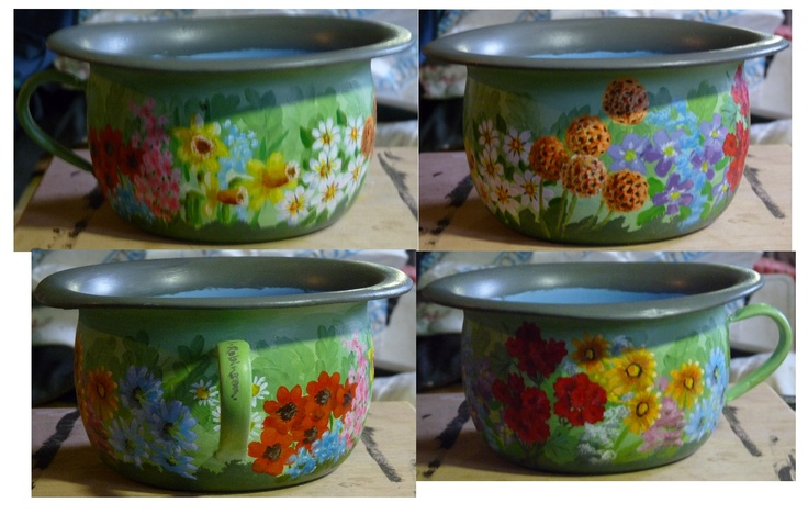 Decorated chamber pot.  Look at my link