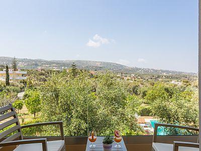 Rethymno villa rental - Wonderful views of the area from the first floor veranda!