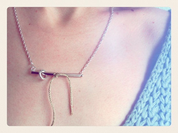 Bar and Circle Necklace by SKRIN on Etsy, €15.00