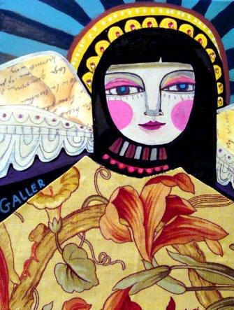 ANGEL PRINT POSTER  Folk Art Angel Poster by HeatherGallerArt, $24.00