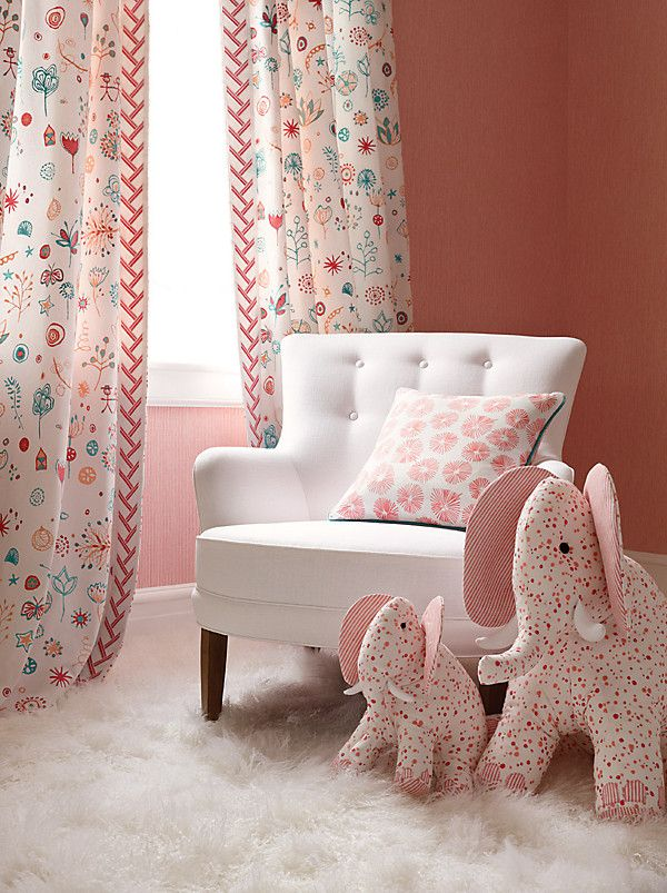Great color palette for a baby's room