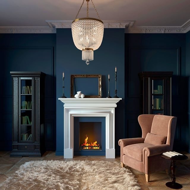 Painting your #FirePlace a different color adds a lot of ...