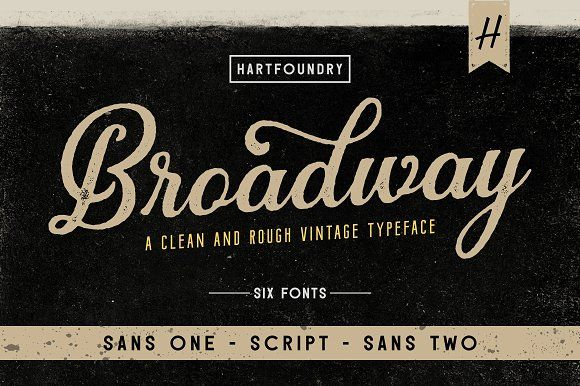 Broadway by Hart Foundry™ on @creativemarket