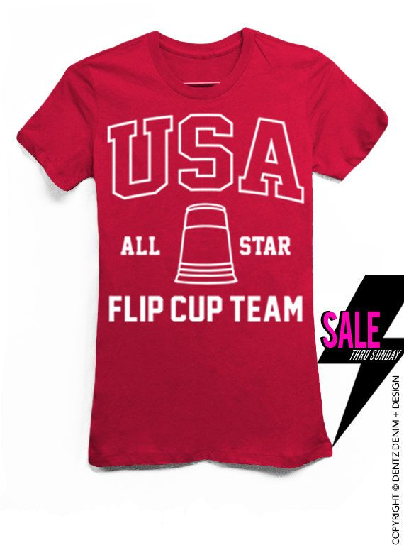 USA All State Flip Cup Team - Red Tshirt #tank #top #summer #tee #party #holidays #4thofjuly #fourthofjuly #memorialday #laborday #picnic #cookout #bbq #family #friends #usa #beerpong #flipcup #frat #brothers #sisters #fraternity #sorority #big #little #allstate #champs #best #college