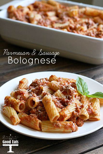 A simple and delicious Parmesan and Sausage Bolognese recipe