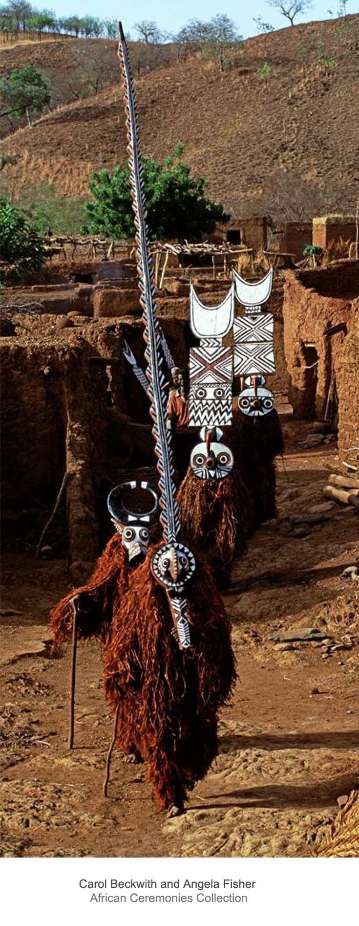 Africa | Bobo Bush Masks.  Burkina Faso | ©Carol Beckwith and Angela Fisher