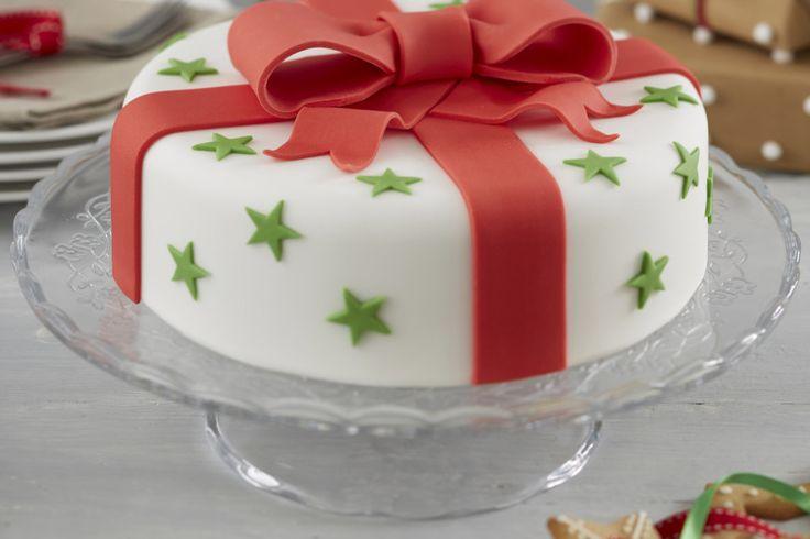 How to Make a Traditional Bow Christmas Cake #christmas #baking #traditional