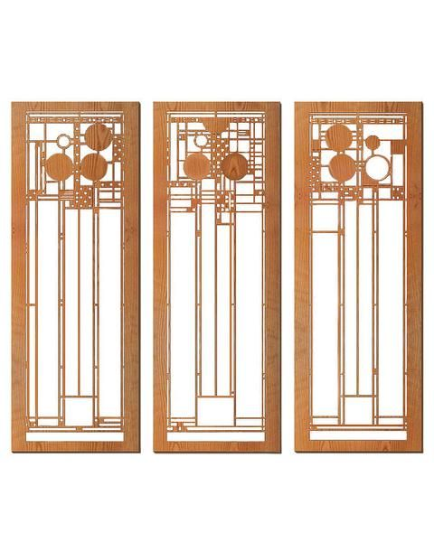 Frank Lloyd Wright Coonley Set of Three Wall Panel Cherry  sc 1 st  Pinterest & 18 best Frank Lloyd Wright Wall Art images on Pinterest | Frank ...