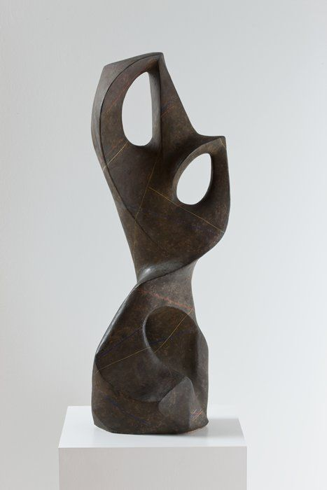 Adaline Kent - Dark Mountain, 1945; sculpture; plaster and paint, 33 3/4 in. x 12 1/2 in. x 8 in. (85.73 cm x 31.75 cm x 20.32 cm)