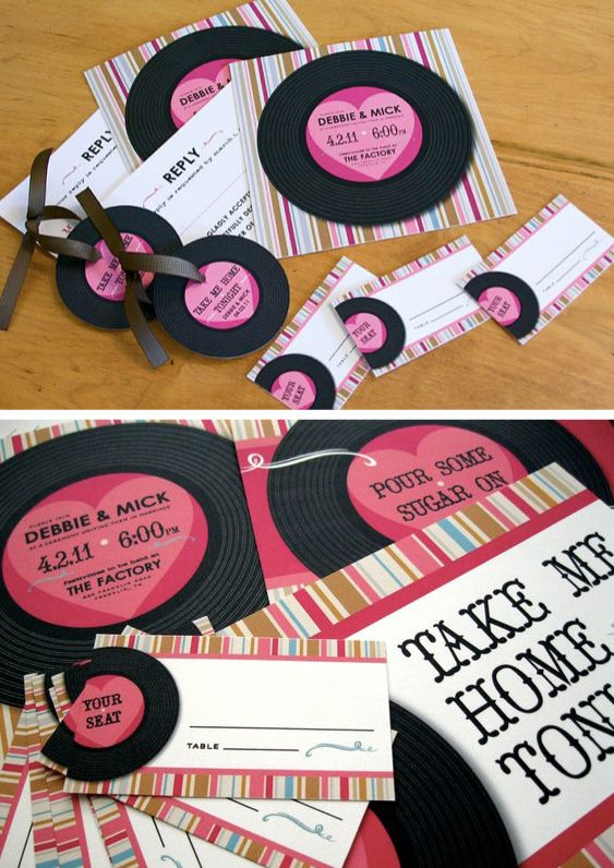 These would be the GREATEST wedding invites EVER!